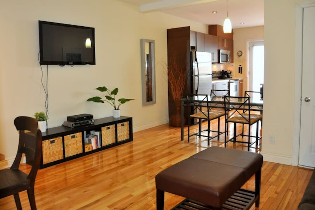 Can accommodate up to 4 guests: 2 on queen size bed, 2 on sofa bed