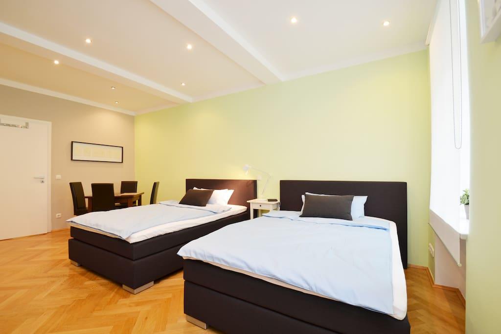 Masterbedroom 30qm with 2 Queen Size beds