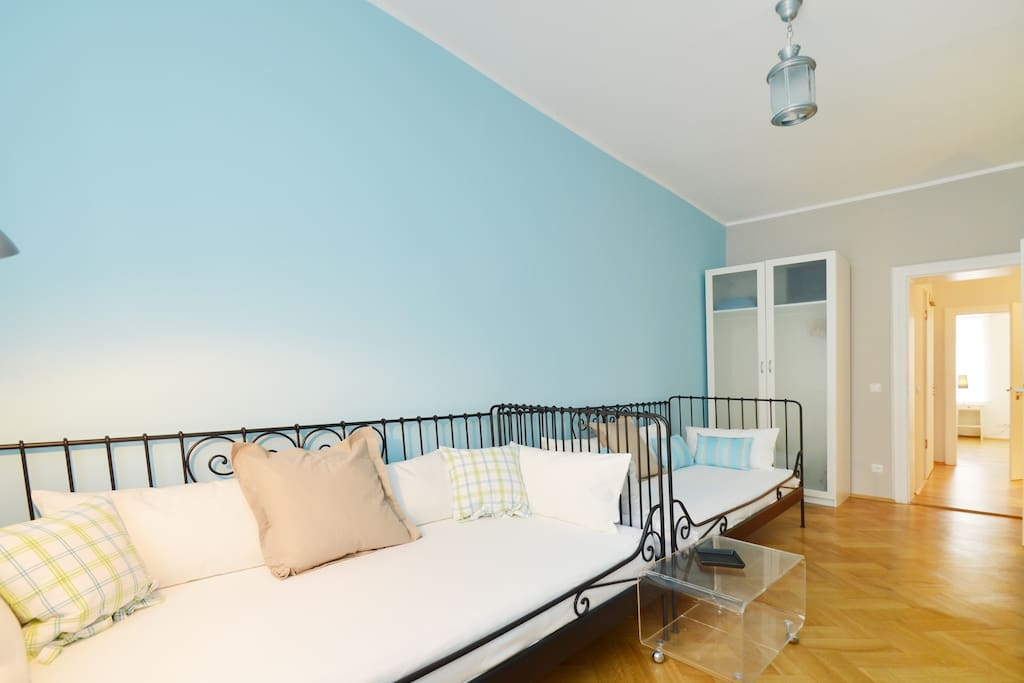 Bedroom with 2 single beds  or your livingroom