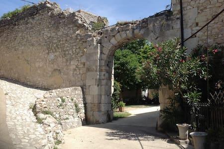 Historic courtyard in Drôme Provençale - Dom