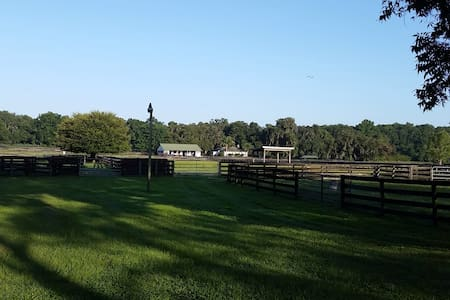 Country cottage on horse farm - Horses Welcome - Ocala - Zomerhuis/Cottage