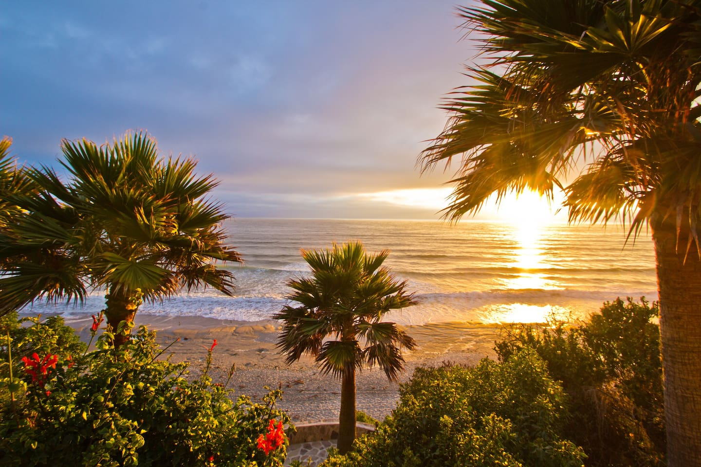 Come and enjoy our spectacular sunsets on our stunning, sandy beach just one hour south of San Diego.