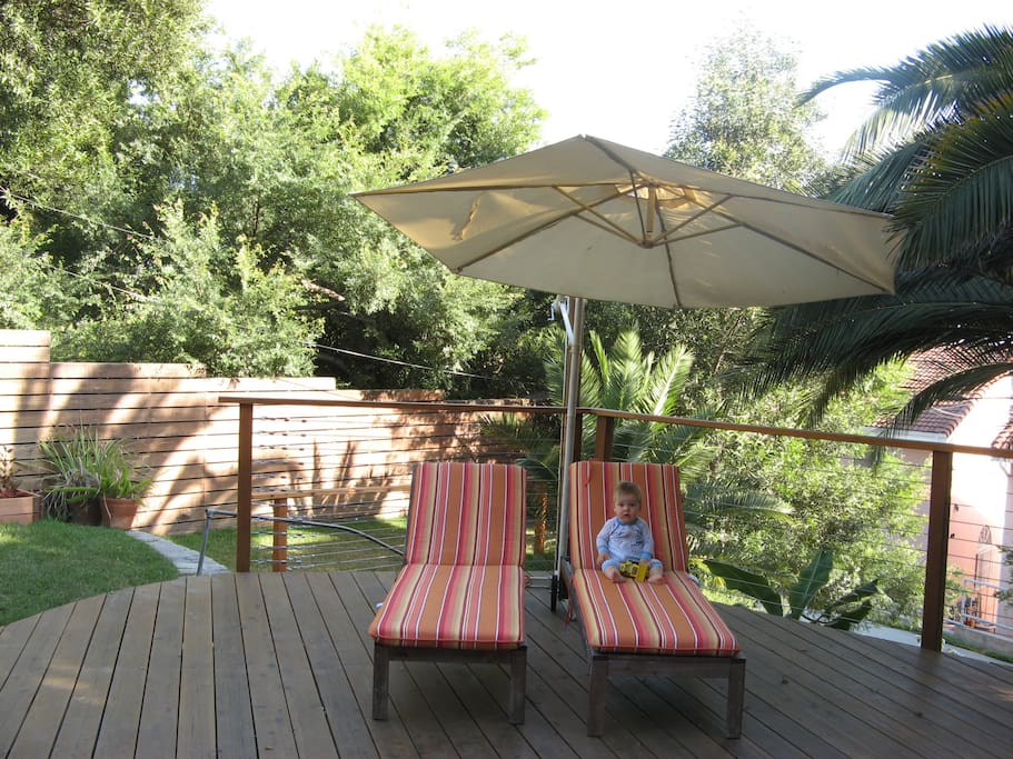deck with chaise longues (baby not included!)