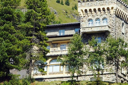 Sunny apartment in a castle in the Swiss Alps - Lyxvåning