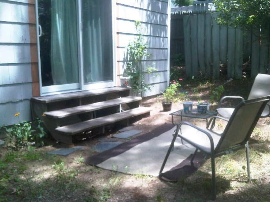 YOUR SMALL BUT PRIVATE BACKYARD AREA....outside your private entrance