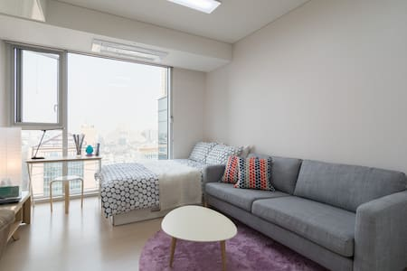 My studio is best-best-best view. You can see Namsan and GangnamDaero etc. It is located in the Gangnam station (10 sec away from station) with a fabulous Gangnam night view. It is new, clean, convenient, cozy.