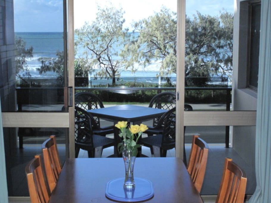 Dine with a view - from the balcony or the dining table.