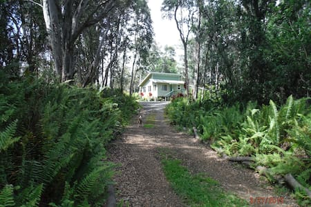 Peaceful Private Rainforest Getaway - Naalehu - Kulübe