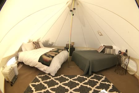 Glamping in Canvas Tent at Wakeside Lake near BYUI - Namiot