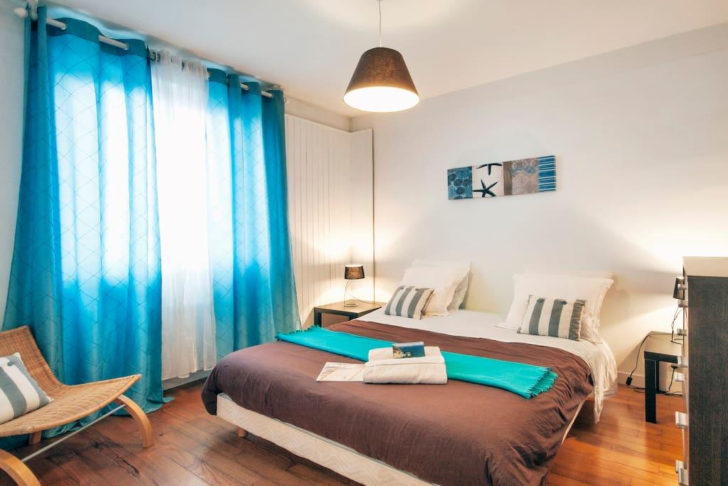 Un lit de 160 pour un confort comme à la maison...