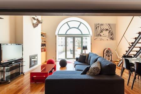 Modern Loft w/ Sunny 130m2 terrace! - Loft