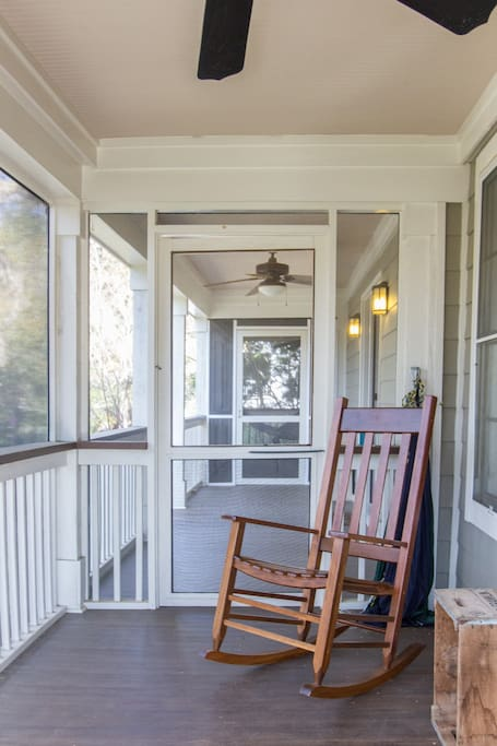 2 screened porches and lots of deck space make this a relaxing dream.