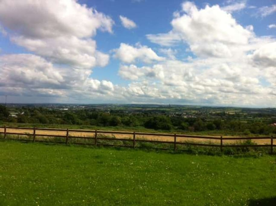 View over Boyne Valley from rear of house