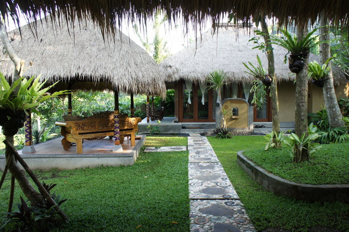 Casa Serenita's master bedroom and the gazebo.