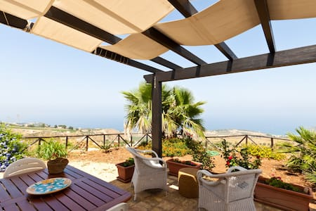 Villa panoramic view on the sea