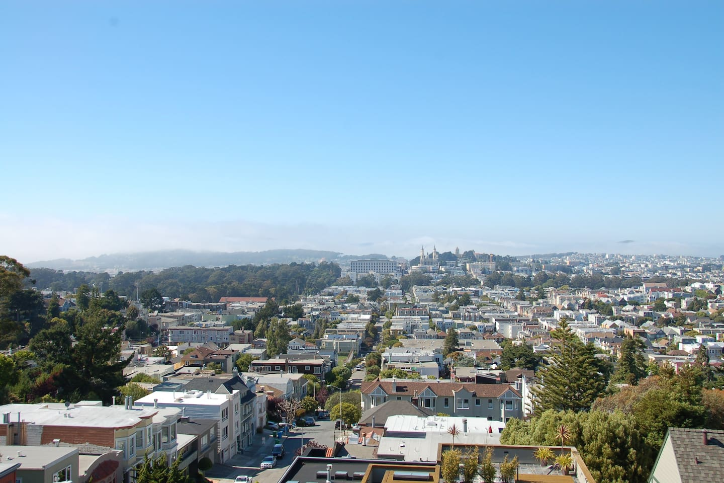 View North from Top Floor Balcony (View of Mt Tam and GG Bridge on a Clear Day)