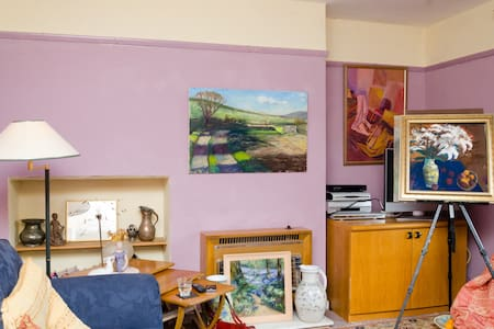 Airy single room in artists house - Honiton - House
