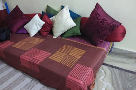 Spacious room with nice ambience. Fully furnished with bed and almirah. Attached Toilet bathroom. Privacy guaranteed