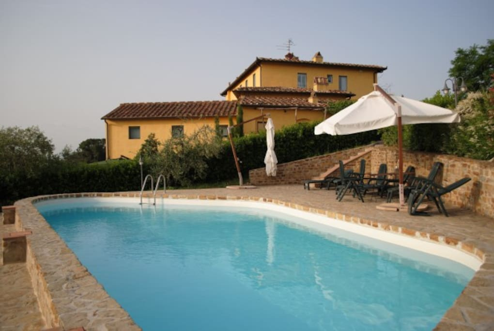 swimming pool and the farm