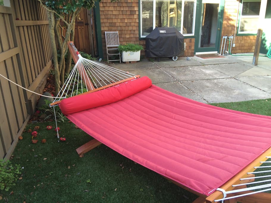 Hammock for you. Right out front your door.