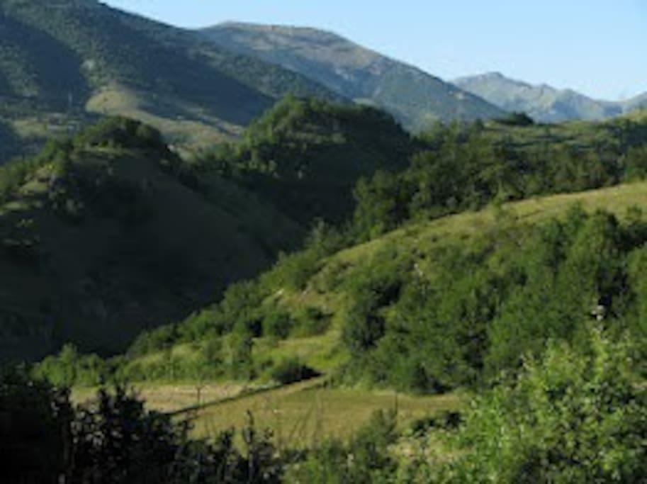Apennine Mountains Surrounding Town of Posta