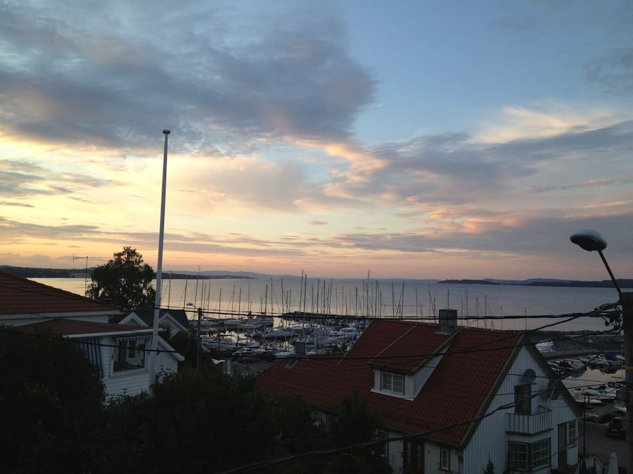 Summer sunset from the veranda (at 10 PM)