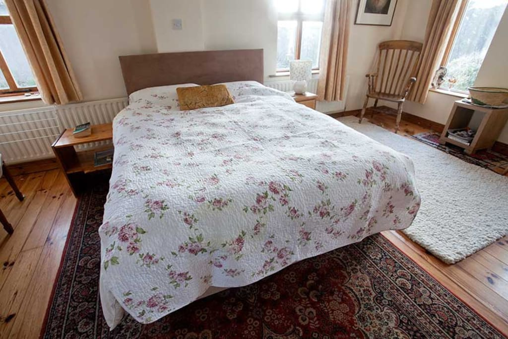 The exceptionally comfortable king-size bed!