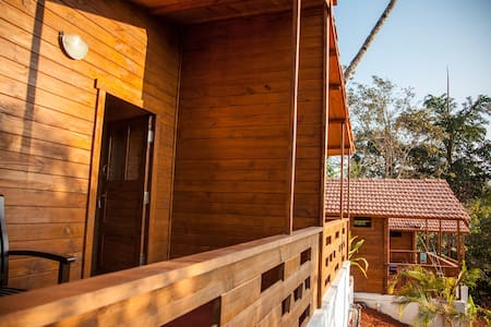 blue planet located in  beautiful jungle at agonda. just 3 km away from beach is perfect suitable to health and peace lovers.blue  planets Eco friendly wooden yet luxury chalets allows guest stay not only comfortable but also experience privacy.