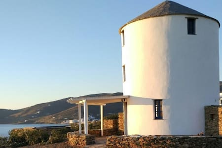 Windmill by the sea in Tinos // Stavros Bay - Tinos