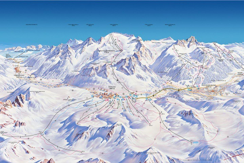 ski slopes and ski lifts