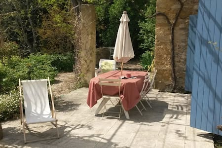 Maison + piscine, proche Avignon - Rumah