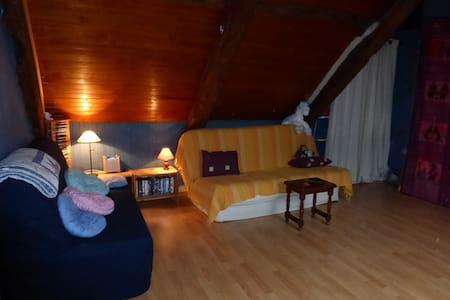 Chambre familiale sous les toits. calme. terrasse - Hus