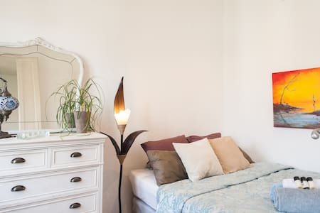 A cozy bedroom will await you after a beautiful but exhausting day of sightseeing in Barcelona. Located in the city center, the room is perfect to explore all the major sights of Barcelona on foot.