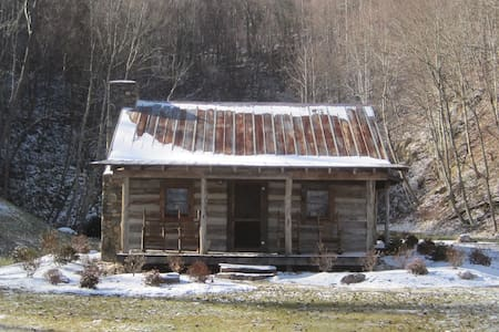 Antique log cabin next to spring fed pond - Green Mountain - Cottage