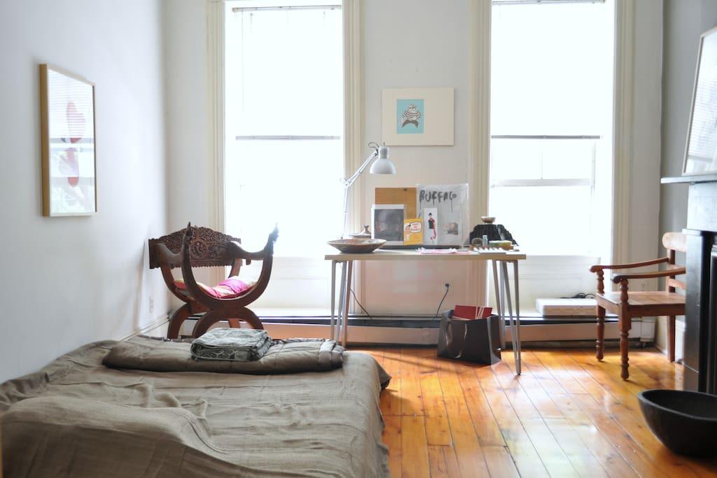 ...old,smooth, wood floors always feel wonderful under your feet !...