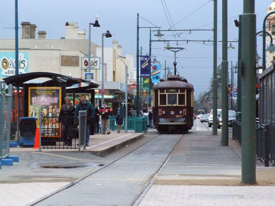 Walking distance to the tram stop. You can go to the city centre or  to Glenelg!