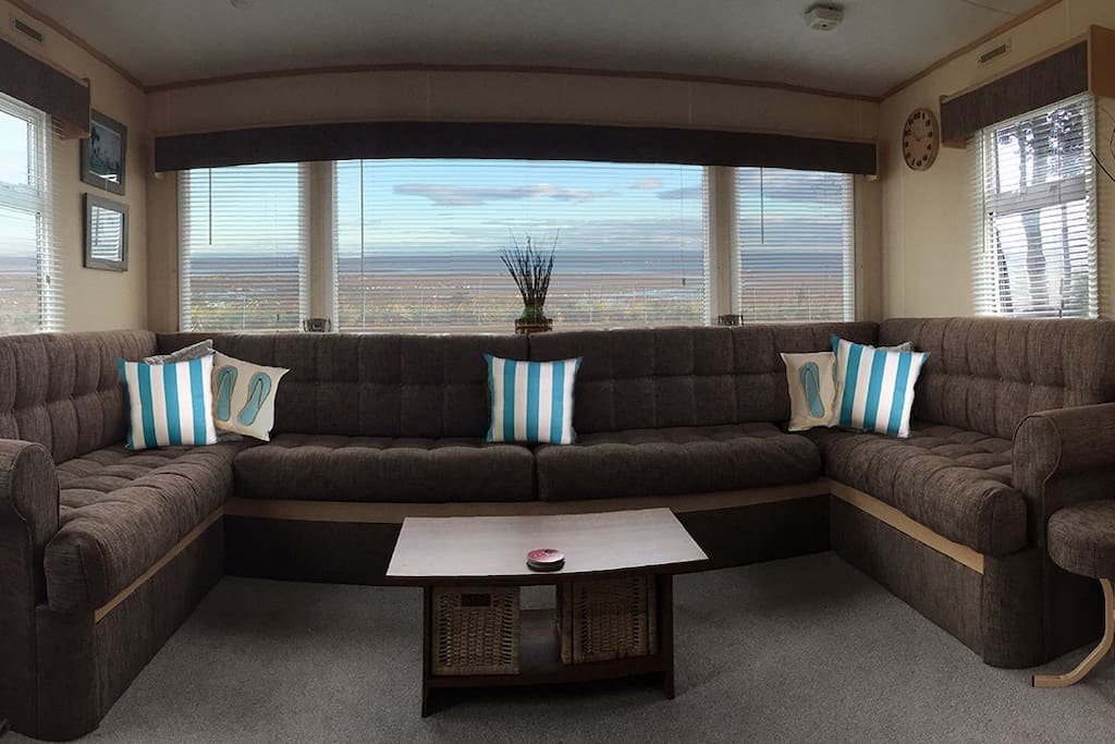 The beautiful sea view from your caravan windows.  You can see across to Fife and clear up the coast to the Forth Rail Bridge to the North and down along the coast towards North Berwick to the south.
