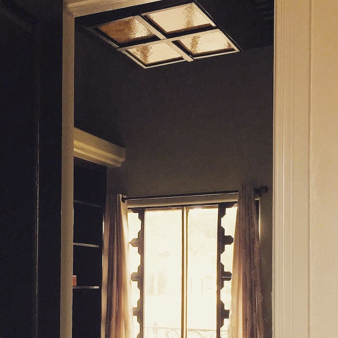 Exquisite woodworkings are found in every room.