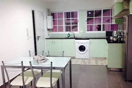 New apartment with 2 bedroom and  2 double beds, fully furnished , equipt with flat screen TV stove top,  microwave,kettel, toaster pots amd pans cutlery , hairdryed internet and cable . In the lovly vila Povoaçao a very welcoming and beautiful vila.