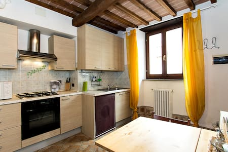 My apartment is in perfect Tuscan style with chestnut wood beamed ceilings and terracotta tiles Florentine with jambs and stone staircases will make you feel a warm touch.  Right in the centre of many places to be discovered.