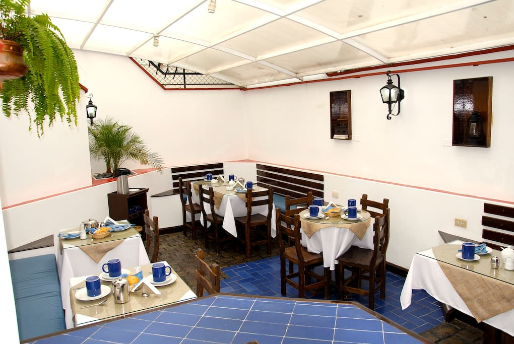Breakfast Area. Sits 15 people confortable. American Style b-fast included in room price!