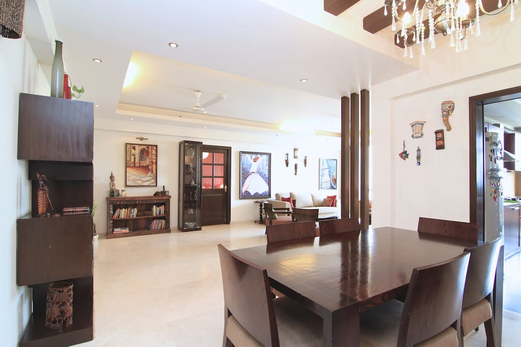 Living room and the dinning room