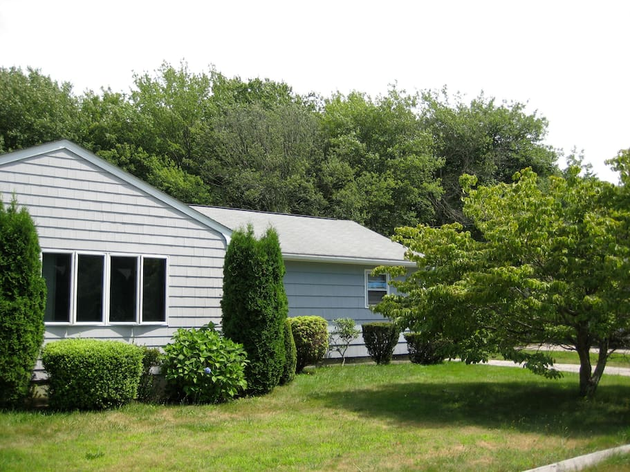 Lots of space for children and family, the 3 acres are enclosed by a white picket fence encircling the property
