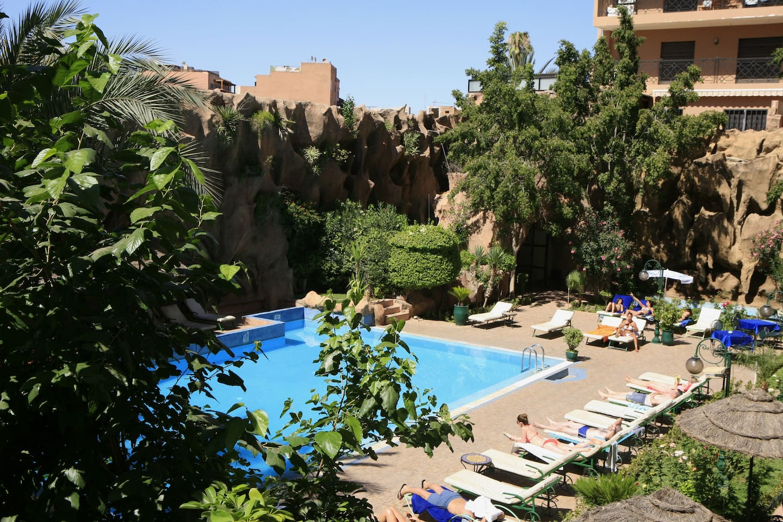 Accès à la piscine de l'hotel pour 50dh / jour.