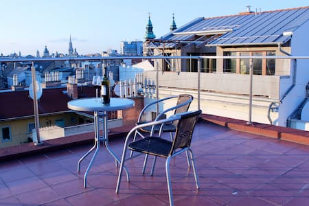 Budapest Rooftop Penthouse with AC!