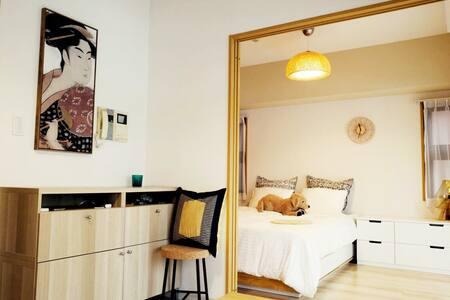 桜の樹と伴う河辺家(面对樱花树的河边公寓) - Apartment