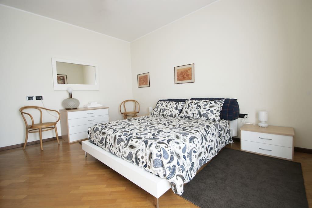 the master bedroom with private bathroom