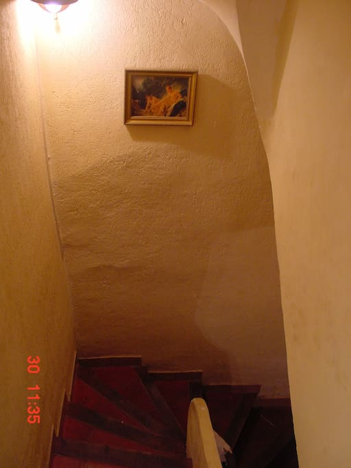 upstairs to the 2nd floor