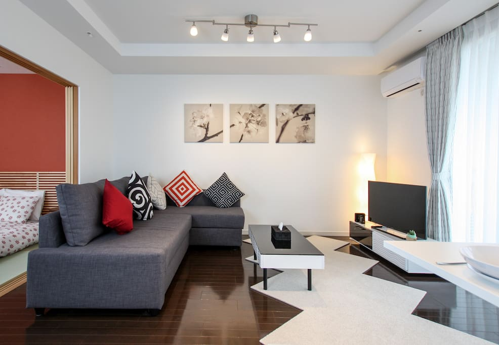 Stylish apartment with brand-new furniture