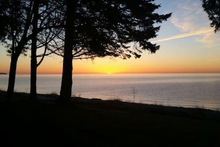 On the shore of Lake Michigan